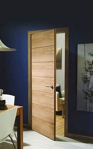 The savona internal oak door is a modern 7 panelled for Oak interior door ideas