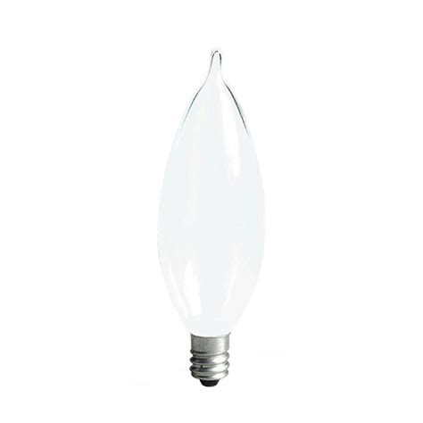 ge 25 watt incandescent ca10 bent tip decorative