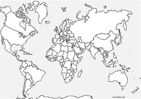 Get This Kids' Printable World Map Coloring Pages X4lk2