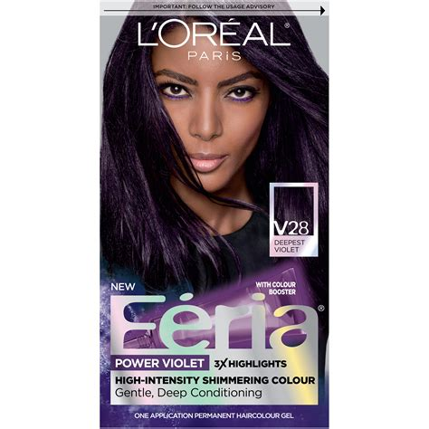 feria hair color purple l or 233 al feria permanent hair color v28 midnight