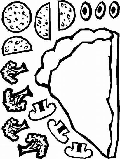 Paper Pizza Paste Cut Own Pizzas Craft