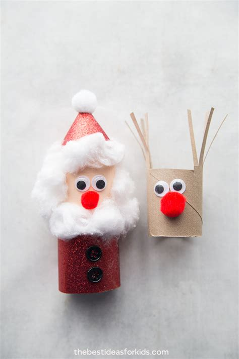 christmas toilet paper roll crafts   ideas  kids