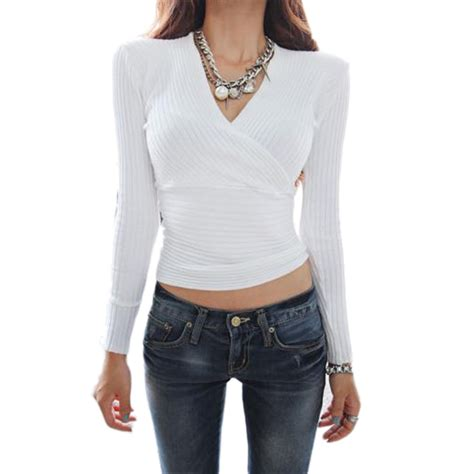 blouse vs shirt 2016 fashion v neck white blouses shirts solid