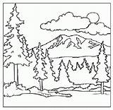 Coloring Mountain Pages Mountains Scenery Adult Printable Children Forest Smoky Scene Landscape Bernese Sky Colouring Sheets Dog Stained Clipart Glass sketch template
