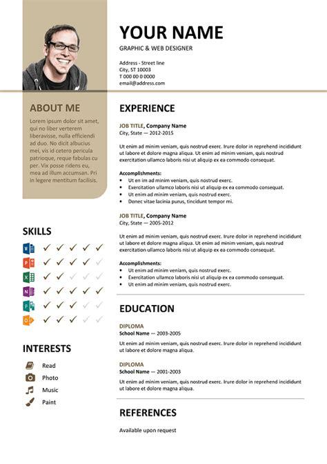 bayview stylish resume template