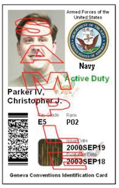 The department of defense issues eligible dependents and other eligible individuals a distinct identification card (id) authorizing them. CHIPS Articles: Access Approved: Biometrics and Smart Cards Open Doors to Improved Efficiency