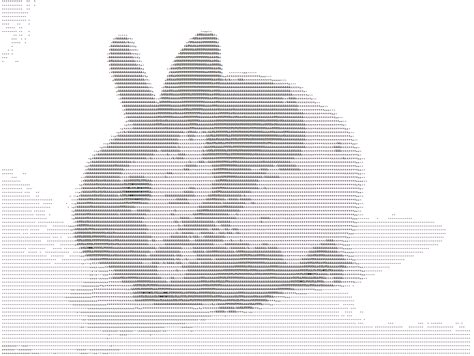 Text Art Rabbits Gallery Created From Ascii Letters And