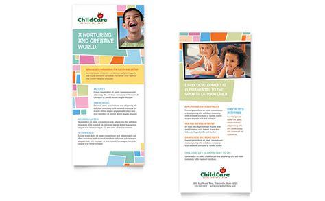 rack cards templates word preschool day care rack card template word