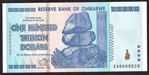 trillion dollar zimbabwe banknote replacement note za serial numb zimbabwedollarsnet