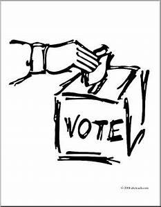 Clip Art: Vote Graphic (coloring page) I abcteach.com ...