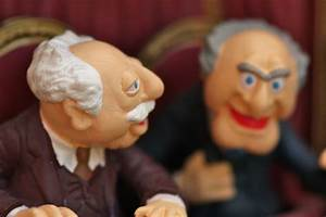 Christmas decorations - Statler and Waldorf from the Muppe ...