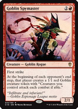 Goblin Commander Deck by Commander 2016 Edition Magic The Gathering