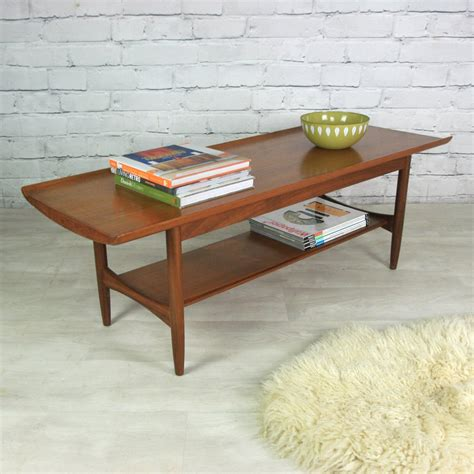 Vintage 1960s Teak Coffee Table  Mustard Vintage