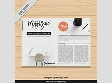 Design magazine template Vector Free Download