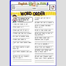 English Exercises Word Order (authorbouabdellah