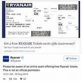 Ryanair 'free tickets' scam: Budget airline warns ...