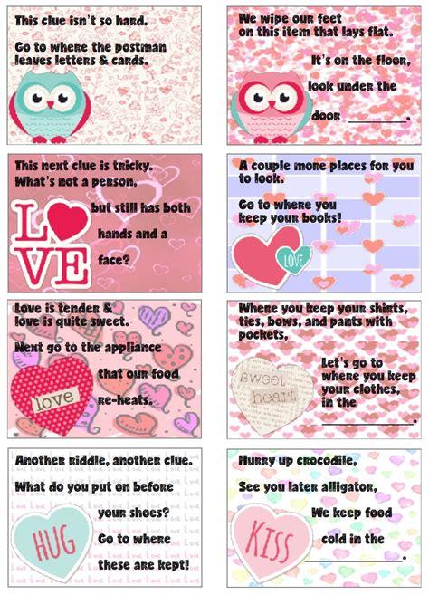 Free Printable Valentine's Day Treasure Hunt: 24 Clues ...