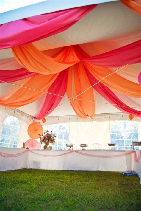 tent decoration looking like a blossoming flower paper