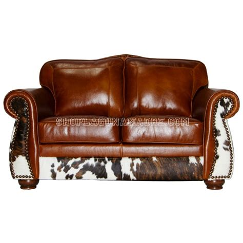 Cowhide Sectional - leather sofa and cowhide leather seat and cowhide