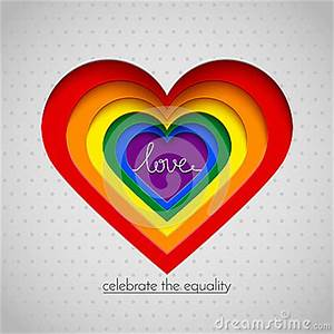 Rainbow Vector Heart Celebrate The Equality Stock Vector ...