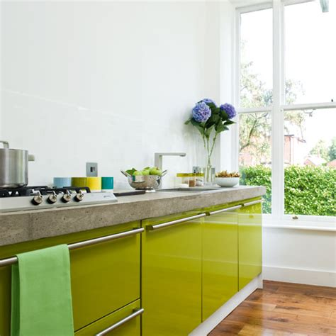 lime green kitchen decor a contemporary lime green kitchen ideal home 7096