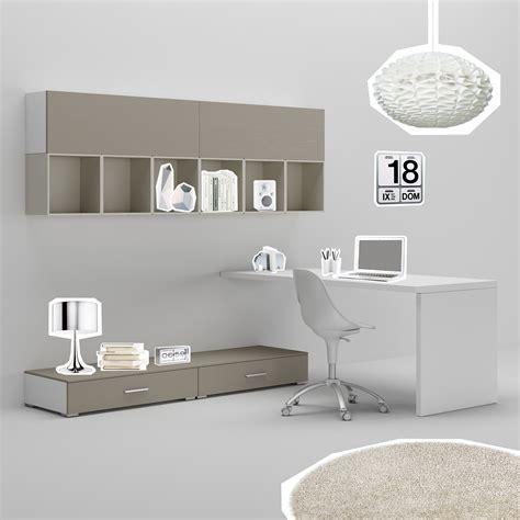 bureau ado ws avec module bas surbaiss et meubles hauts