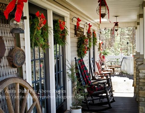 christmas ideas  door porch decor