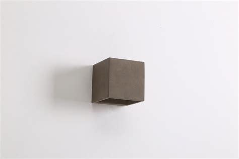 cube 3 5w led up exterior wall light cement warm