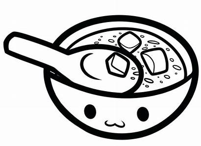 Soup Coloring Pages Bowl Colouring Drawing Pot