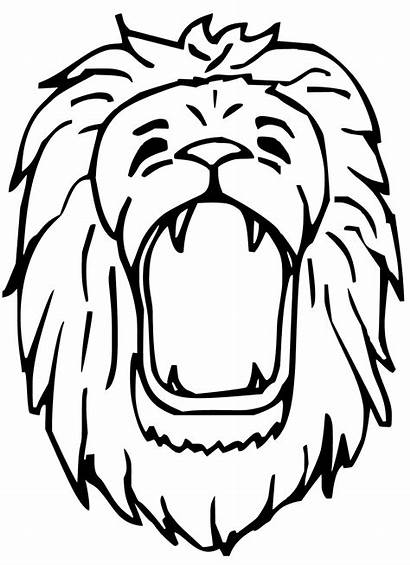 Lion Coloring Pages Drawing Face Roar Roaring