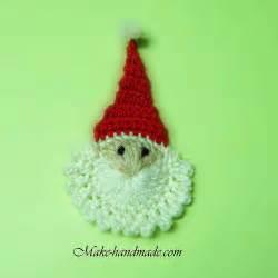 christmas crafts ideas easy santa crochet tutorial make handmade crochet craft