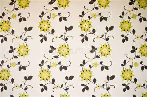 Green And Brown Floral Wallpaper Stock Photography Image