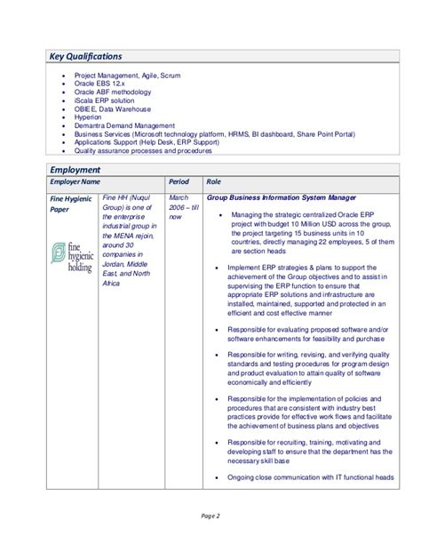 hyperion planning developer canada resume