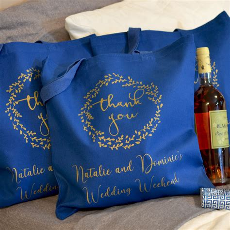 canvas wedding  tote bags personalized