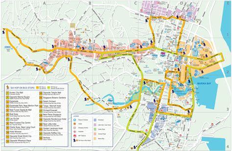 singapore map detailed city  metro maps  singapore