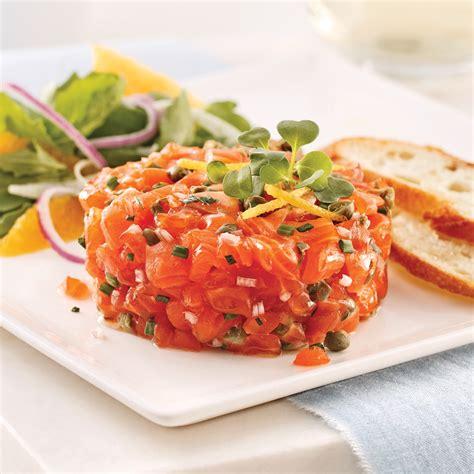 saumon cuisine tartare de saumon classique recettes cuisine et