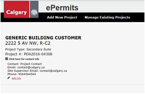 city  calgary residential epermit  home