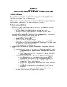 Description Grocery Cashier Resume by 2016 Description For Cashier Recentresumes