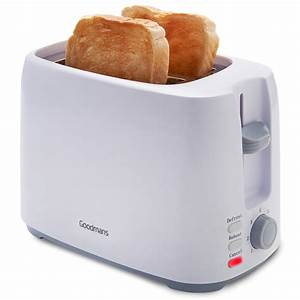 Goodmans 2 Slice Toaster - White Kitchen Appliances - B&M
