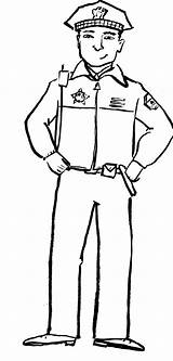 Police Officer Coloring Pages Drawing Community Policeman Clipart Helpers Print Hat Preschool Helper Hats Printable Firefighter Sketch Drawings Printables Printing sketch template