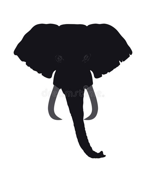 elephant silhouette front elephant front view this silhouette may be used for