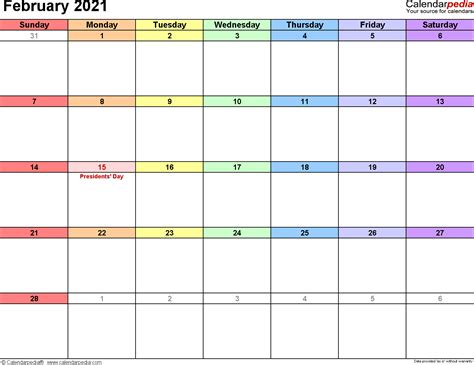 This website shows every (annual) calendar including 2021, 2022 and 2023. February 2021 Calendars for Word, Excel & PDF