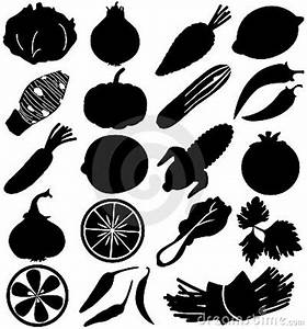 Silhouette Vector Of Fruit & Vegetable Royalty Free Stock ...