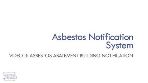 asbestos training video asbestos abatement building