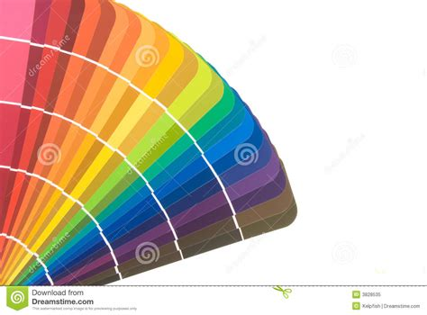 paint color cards and brush royalty free stock photo