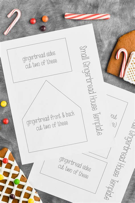 gingerbread house template printable wine glue