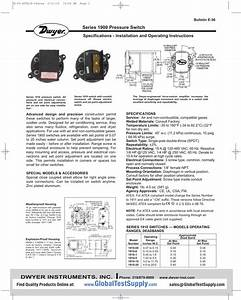 Series 1900 Pressure Switch Specifications