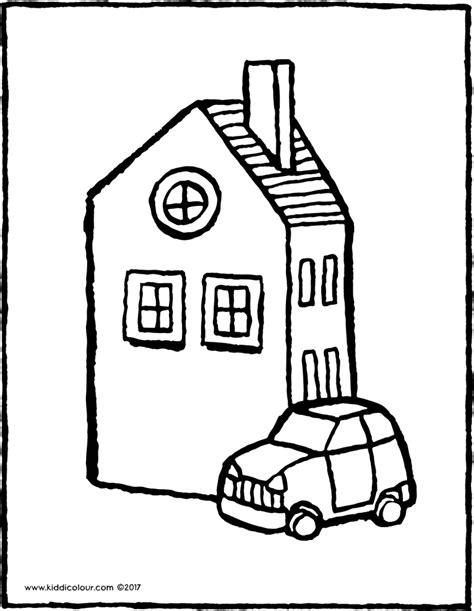 Kleurplaat Auto 39 by Huizen Kleurprenten Pagina 2 4 Kiddikleurprenten