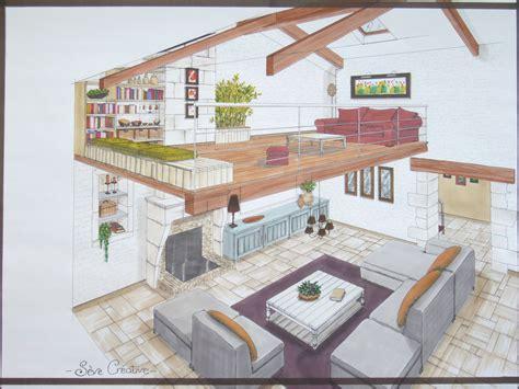 dessin d une chambre en perspective salon mezzanine photo de 02 conseils en aménagement d