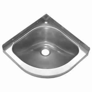 Lavabo D Angle Salle De Bain : lavabo d angle inox pour cuisine et salle de bain quipement sanitaire ~ Nature-et-papiers.com Idées de Décoration